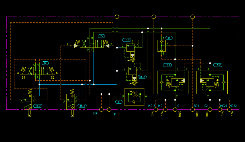 circuit design software with self contained 2d cad engine hydraw